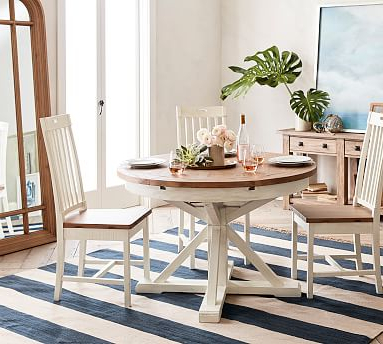 Popular Hart Reclaimed Extending Pedestal Dining Table, Driftwood Throughout Larkin (View 4 of 25)