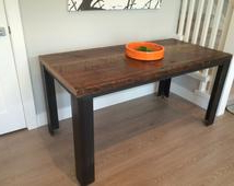 Popular Items For Rustic Dining Table On Etsy Throughout Well Liked Cammack (View 13 of 25)