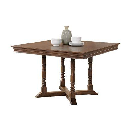 """Popular Mondovi Transitional 43"""" Square Pedestal Dining Table Set Pertaining To Servin 43'' Pedestal Dining Tables (View 4 of 25)"""