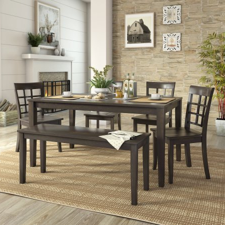 Popular Neves 43'' Dining Tables Inside Weston Home Lexington 6 Piece 60 Inch Dining Table Set (View 22 of 25)
