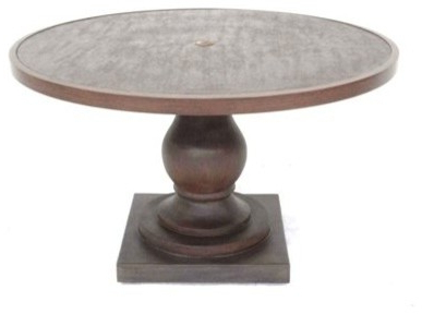 Popular Tabor 48'' Pedestal Dining Tables Pertaining To Allen + Roth Meridale 48 Inch Round Pedestal Table (View 21 of 25)