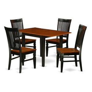 Featured Photo of Villani Drop Leaf Rubberwood Solid Wood Pedestal Dining Tables