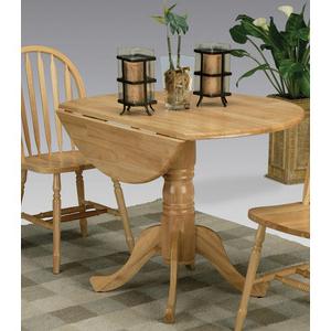 Popular Villani Drop Leaf Rubberwood Solid Wood Pedestal Dining Tables Inside 5140nadt Drop Leaf Pedestal Table (View 6 of 25)