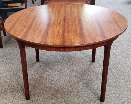 Popular Warnock Butterfly Leaf Trestle Dining Tables With Vintage Round Rosewood Dining Table W/ Butterfly Leaf C (View 21 of 25)