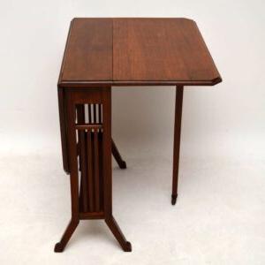 Preferred Antique Edwardian Mahogany Sutherland Table – Marylebone Within Joyl (View 7 of 25)
