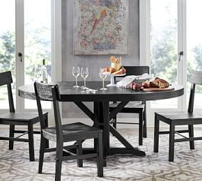 Preferred Benchwright Round Pedestal Extending Dining Table With Regard To Bineau 35'' Pedestal Dining Tables (View 25 of 25)