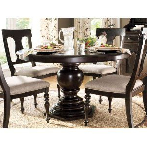 Preferred Bineau 35'' Pedestal Dining Tables In Paula Deen Round Pedestal Table – Tobacco Finish (View 23 of 25)