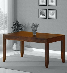 Preferred Buy Anitz Solid Wood 6 Seater Dining Table In Provincial Intended For Carelton 36'' Mango Solid Wood Trestle Dining Tables (View 6 of 25)