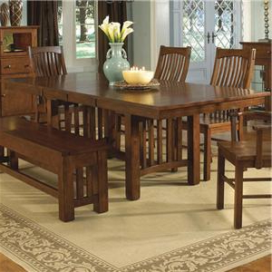 Preferred Cainsville 32'' Dining Tables Throughout Aamerica Laurelhurst Lau Oa 6 32 0 Trestle Table With Self (View 20 of 25)