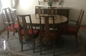"""Preferred Darbonne 42'' Dining Tables Intended For Dining Room Table Wood 42"""" Wide Oval,6 Chairs,buffet (View 14 of 25)"""