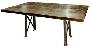 """Preferred Haddington 42'' Trestle Dining Tables In 96"""" L X 42 X 30 Beautiful Dining Table High Wood Top Iron (View 16 of 25)"""