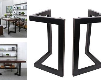 """Preferred High Quality 28"""" Dining Table Legs, L Shaped Steel Table Regarding Deonte 38'' Iron Dining Tables (View 21 of 25)"""