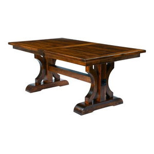 """Preferred Kara Trestle Dining Tables Intended For 60"""" Double Pedestal Trestle Table – Traditional – Dining (View 13 of 25)"""
