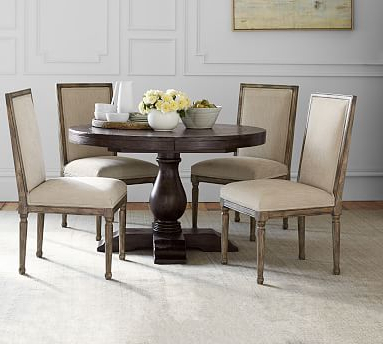 Preferred Kirt Pedestal Dining Tables Throughout Lorraine Round Pedestal Extending Dining Table (View 20 of 25)