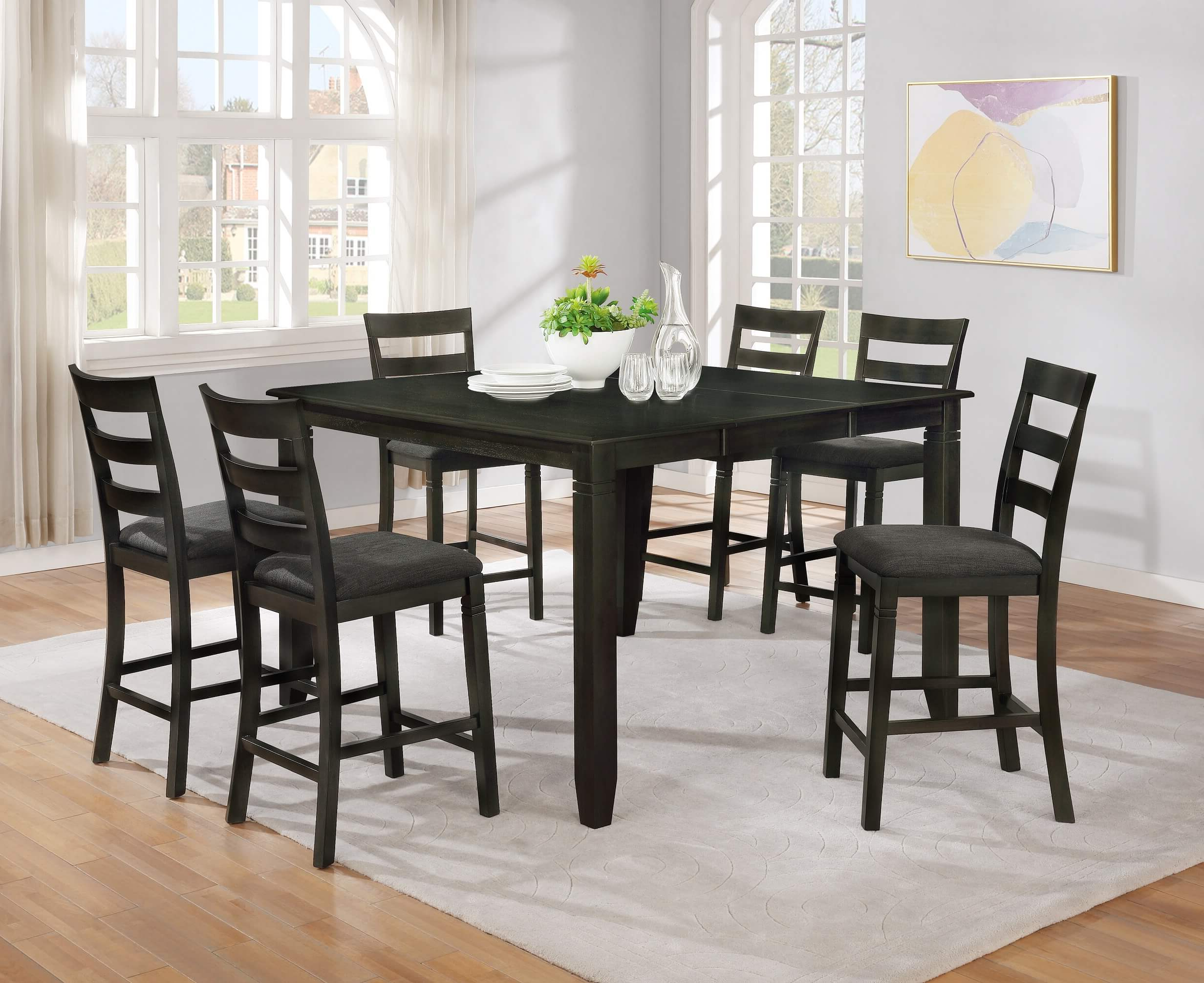 Preferred Mciver Counter Height Dining Tables With 7 Piece Counter Height Dining Setmilton Green Stars (View 4 of 25)