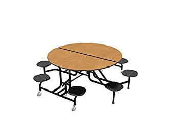 "Preferred Mode Round Breakroom Tables With Regard To Amazon: Palmer Hamilton 59t Easy Folding 60"" Round (View 12 of 25)"
