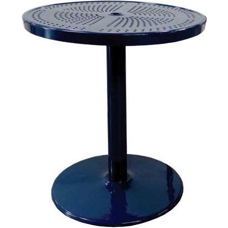 Preferred Pedestal Table – Plastic Coated Metal – Bar Height Inside Nashville 40'' Pedestal Dining Tables (View 12 of 25)