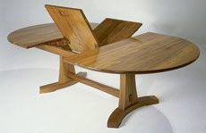 Preview – A Butterfly Expansion Table – Fine Woodworking With Regard To Fashionable Aulbrey Butterfly Leaf Teak Solid Wood Trestle Dining Tables (View 2 of 19)