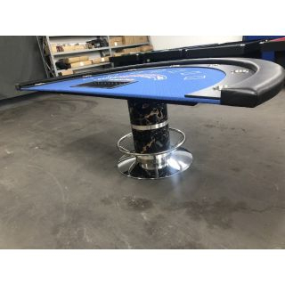"""Professional Blackjack Table With Dealer Pit Regarding Favorite 48"""" 6 – Player Poker Tables (View 16 of 25)"""