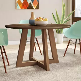 Reagan Pine Solid Wood Dining Tables Pertaining To Famous Crites Dining Table In (View 16 of 25)