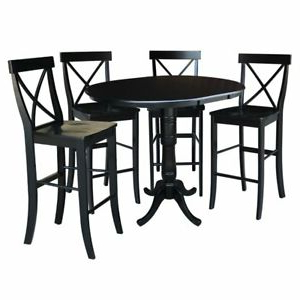 """Recent Andrenique Bar Height Dining Tables In 36"""" Round Extension Dining Table (View 19 of 25)"""
