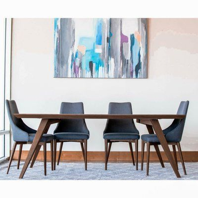 """Recent Ashcroft Imports Demir Dining Table Size: 30"""" H X 39"""" W X Pertaining To Elderton 30'' Solid Wood Dining Tables (View 17 of 25)"""