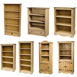 Recent Corona Panama Bookcase Display Unit Solid Pine Waxed Inside Cammack (View 25 of 25)