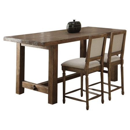 Recent Counter Height Dining Table With An 11 Step Finish And Pertaining To Nakano Counter Height Pedestal Dining Tables (View 12 of 25)
