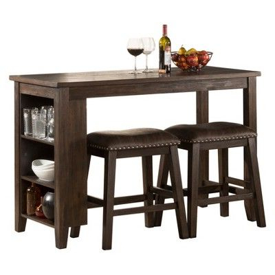 Recent Eduarte Counter Height Dining Tables Pertaining To Spencer Three Piece Counter Height Dining Set With (View 25 of 25)