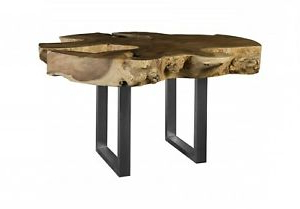 """Recent Folcroft Acacia Solid Wood Dining Tables Regarding 61"""" W Fremont Dining Table Live Edge Solid Acacia Wood (View 23 of 25)"""