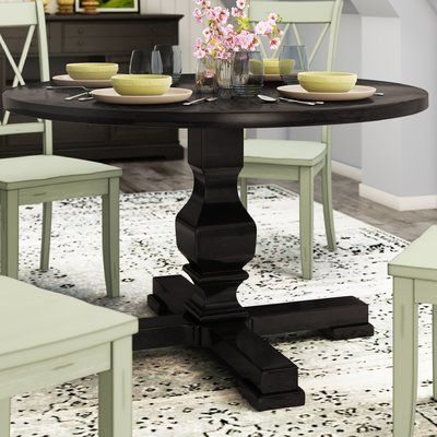 Recent Gracie Oaks Bloomingdale Round Pedestal Dining Table Throughout Kohut 47'' Pedestal Dining Tables (View 8 of 25)