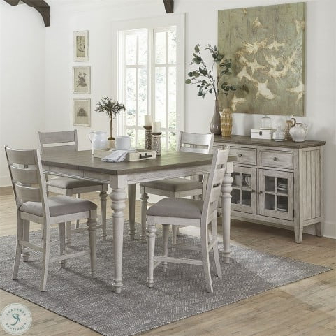 Recent Heartland Antique White Extendable Counter Height Within Andrelle Bar Height Pedestal Dining Tables (View 21 of 25)