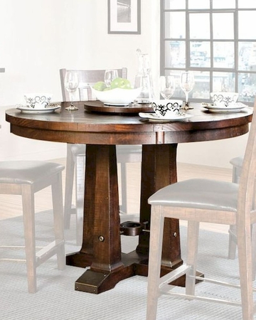 Recent Intercon Solid Pine Counter Height Dining Table Hayden Pertaining To Febe Pine Solid Wood Dining Tables (View 6 of 25)