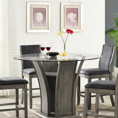 Recent Mirrored Round Kitchen & Dining Tables You'll Love In 2020 Regarding Keown 43'' Solid Wood Dining Tables (View 8 of 25)