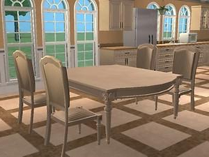 Recent Mode Square Breakroom Tables Pertaining To Mod The Sims – Tuscan Kitchen Set *updated* (View 7 of 25)