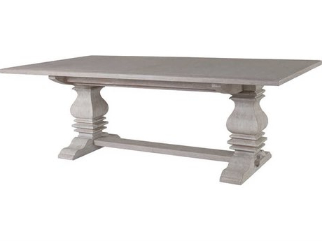 """Recent Murphey Rectangle 112"""" L X 40"""" W Tables For Henkel Harris 72 X 46 Rectangular Double Pedestal Dining (View 12 of 25)"""
