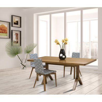 Recent Tylor Maple Solid Wood Dining Tables With Regard To Brayden Studio Ebling Maple Dining Table Base Color (View 24 of 25)