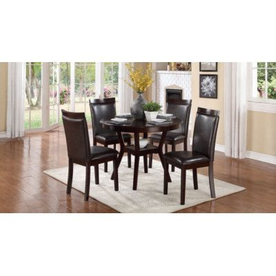 Recent Woodhaven Hill Shankmen 5 Piece Dining Set & Reviews Inside Desiree (View 2 of 25)