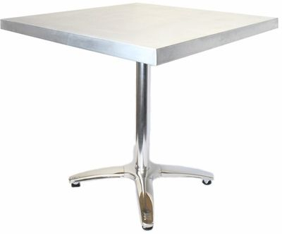 Rectangular Zinc Table With Stainless Steel Base – 24''w X Regarding Widely Used Midtown Solid Wood Breakroom Tables (View 5 of 25)