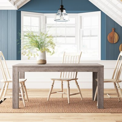 Rishaan Dining Tables With Fashionable Rectangular Rustic & Farmhouse Kitchen & Dining Tables You (View 21 of 25)