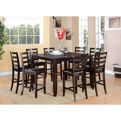 Romriell Bar Height Trestle Dining Tables In Favorite Krull 7 Piece Counter Height Dining Set (View 9 of 25)