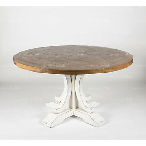 Ronde Parquetry Elm Timber French Provincial Pedestal In Recent Dawna Pedestal Dining Tables (View 10 of 25)