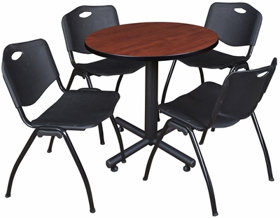 Round Breakroom Tables And Chair Set Regarding Preferred Kobe 30'' Round Laminate Breakroom Table With 4 ''m (View 17 of 25)