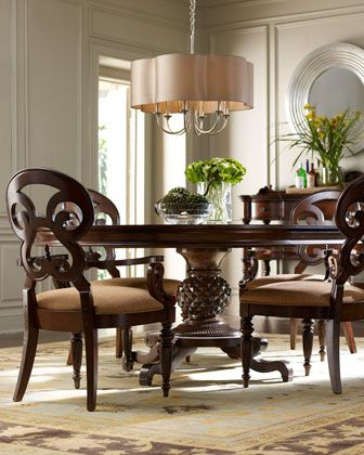 Round Dining Room With Current Classic Dining Tables (View 11 of 25)