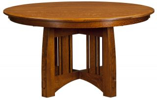 Round Pedestal Dining Table Extending Solid Wood Oak 48,54,60 With Well Liked Monogram 48'' Solid Oak Pedestal Dining Tables (View 8 of 25)