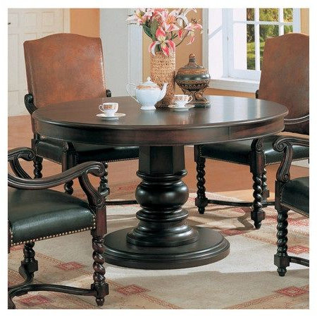 Round Pedestal Dining Table, Round Pertaining To Kohut 47'' Pedestal Dining Tables (View 4 of 25)