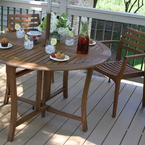 Round Wood Danner Outdoor Dining Collection (View 10 of 25)
