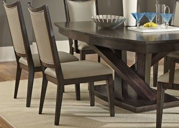 Rubberwood Solid Wood Pedestal Dining Tables For Famous Pedestal Dining Table With Solids Rubberwood And Charcoal (View 4 of 25)