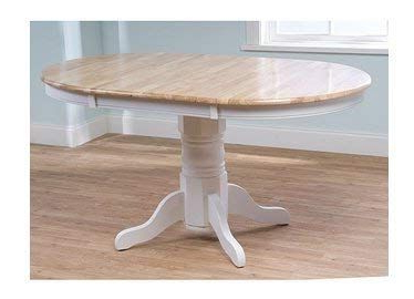 Rubberwood Solid Wood Pedestal Dining Tables Regarding Well Known Simple Living Expandable Oak Rubberwood Pedestal Round (View 2 of 25)