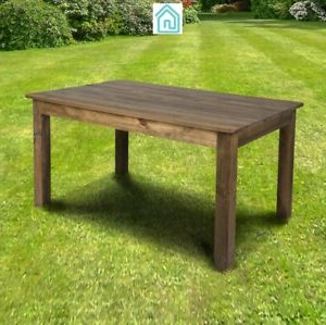 Rustic Modern Dining Table In Brown Color Solid Pine Wood Inside Fashionable Reagan Pine Solid Wood Dining Tables (View 9 of 25)
